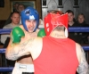 ProKick's Karl McBlain charges foward, taking the fight to opponent Johnny McCabe during their boxing fight in Kilkenny