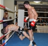 ProKick fighter and new amateur European Champion Karl McBlain in action at the event in Nicosia, Cyprus on 9th March 2012.