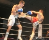 ProKick fighter Karl McBlain takes a hard roundhouse from Bryan Merrigan