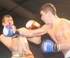 ProKick fighter Karl McBlain delivers a hard straight right hand to Bryan Merrigan