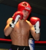 ProKick's Karl McBlain looking focused in the ring against England's Dean Petty