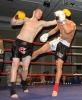 Karl McBlain in action against opponent and World Champion Ryan Lyall