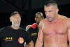 Jerome Le Banner awaits the judges decision after a hard 5 rounds with Stefan Leko