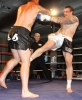 Paul Best in action against James Perry