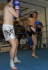 ProKick fighter Peter Rusk in action at the event in Nicosia, Cyprus on 9th March 2012.