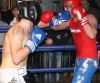 ProKick's Peter Rusk pushes forward in his boxing fight with Miles Price during their boxing fight in Kilkenny