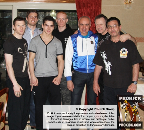 ProKick team at the venue before the event in Nicosia, Cyprus on 9th March 2012.