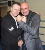 WKN President Mr Stefane Cabrera with Billy Murray before the event in Nicosia, Cyprus on 9th March 2012.