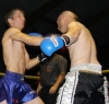 ProKick's Stuart Jess trading blows with Swiss opponent Loic Jeannin