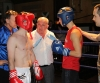 ProKick's Tom McKee listening in to the referees instructions before his Kilkenny boxing fight