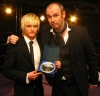 Up-n-Coming ProKick kickboxing Fighter for 2007 - Mark Bird 17 years old with host and BBC's TV favourite Joe Lindsay