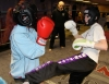 ProKick members Amy Filer and Anna Mallon sparring on the final week of ProKick HQ's level 1 sparring course.