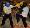 ProKick members Alex McGreevy and David Jones sparring on the final week of ProKick HQ's level 1 sparring course.