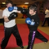 ProKick member lands a hard right hand on one of his team mates during sparring at ProKick HQ