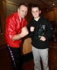 ProKick's Youth Student of the year Bailie 'Clubber' McClinton with head coach Billy Murray.