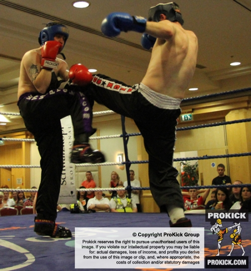 David Fisher (Right) in action at the Hilton event in Belfast on June 26th 2011