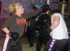 ProKick member Christine Miller sparring with one of her team mates at ProKick HQ