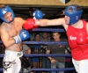 ProKick's Pawel Stemerowicz takes a hard right hand counter his first boxing fight in Kilkenny
