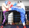 ProKick fighter Davy Foster lands a hard front kick against Galway based Dave Mannion