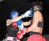 ProKick's Ursula Agnew trades hard shots with Lindsey Doyle