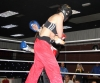 Ursula Agnew in action against Lindsey Doyle from Global Kickboxing Dublin