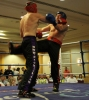 James Boyd in action against David Cunniffie (Wolfpack Kickboxing Athlone)