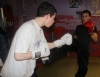 ProKick member Jamie McCusker sparring with one of his team mates sparring at ProKick HQ