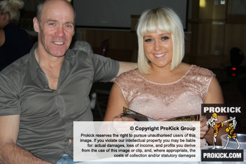 Billy Murray's brother John and Niece Amber Murray posing for a lovely Daddy Daughter shot before the 2012 ProKick Award event.