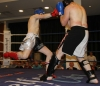 ProKick fighter Johnny Smith lands a solid right hand on Joe Harte from Waterford