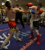 Johnny Smith in action against Bryan Merrigan from Black Dragon Galway