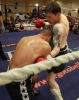 ProKick fighter Johnny Smith lands a  hard body shot on Jonathan Curmi of Malta.