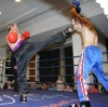 WKN World Champion Ken Horan throws a high kick towards Demo opponent Jack Davis