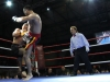 Stefan Leko lands a hard roundhouse to the body of Jerome Le Banner