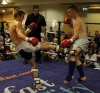 Mark Bird in action against Charlie Ward from Black Dragon Galway