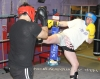 ProKick members Marc Gillespie and Carl Wilson sparring on the final evening of ProKick HQ's Level 2 Sparring Class.