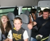 Junior ProKick members Shannon and Jordan Eyre on the bus to Galway