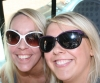Die hard Justin Bieber fans and ProKick members Natalie and Stephanie having fun on the bus to Galway.