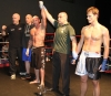 Aidan Brooks takes the win in his 1st round TKO over ProKick's Peter Rusk