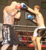ProKick fighter Peter Rusk lands a hard jab on Dublin based Aidan Brooks