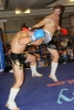 ProKick's Peter Rusk in action against France's Franck Langlasse in ProKick's October 30th 'Fright Night' event