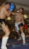 ProKick's Peter Rusk in action against France's Franck Langlasse in ProKick's October 30th 'Fright Night' event.
