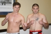 Peter Rusk with opponent Rustam Guseinov