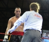 Stefan Leko recovers from a blazing Jerome Le Banner combination