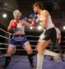 ProKick's Ursula Agnew lands a hard right hook to the chin of Aisling Daly