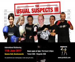 The ProKick team will be back at the Queen's Hall, Newtownards Co.Down on June 11th 2017 -  doors open 3:pm first fight 3:30pm