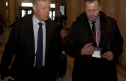 Billy Murray talks with First Minister