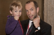 Father and son visit Stormont