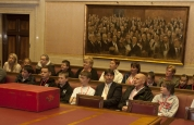 Kids & parents from prokick in the Senate Chamber