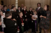 Kids at prokick getting Stormont tour