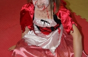 Lauren red riding hood at the fancy dress special.41